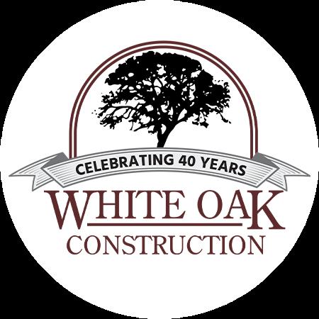 white oak construction 40years logo